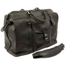 "Bacchus 20"" Leather Carry-On Duffel"