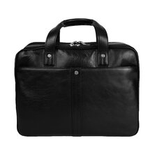 <strong>Dr. Koffer Fine Leather Accessories</strong> Checkpoint Friendly Leather Laptop Briefcase