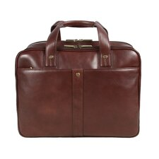 Checkpoint Friendly Leather Laptop Briefcase