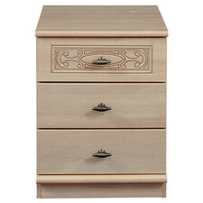 Florence 3 Drawer Bedside Table