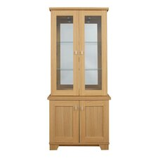 Sherwood 2 Glazed Door Display in Natural Oak