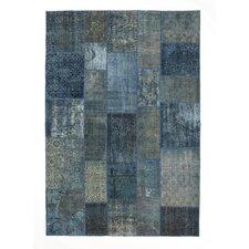 Vintage Blue Plaid Rug