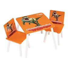 Giganotosaurus Table and Two Chairs