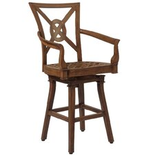 Vienna Swivel Barstool with Seat and Back Cushions