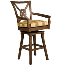 <strong>Woodard Landgrave</strong> Vienna Swivel Barstool with Cushion