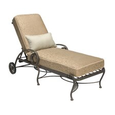 <strong>Woodard Landgrave</strong> Old Gate Chaise Lounge with Cushion