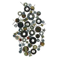 BJ Keith Designs Celestial Circles and Stars Metal Wall Décor
