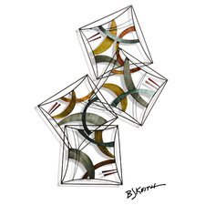 BJ Keith Design Metal Wall Sculpture