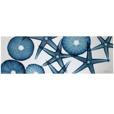 <strong>Style Craft</strong> Starfish and Sand Dollars Hand Embellished Stretched Canvas Wall Art