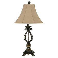 """Poly 31.25"""" H Table Lamp with Bell Shade"""