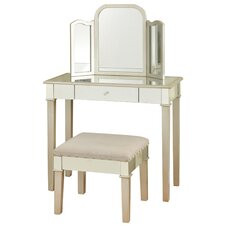 Hollywood Glamour Bedroom Vanity with Mirror