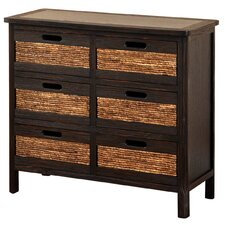All Pine 6 Drawer Chest