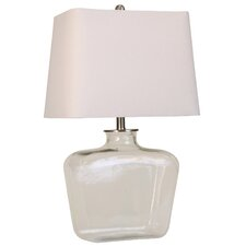 """Glass 26"""" H Table Lamp with Square Shade"""