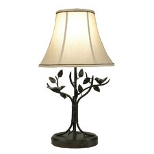 Iron Bird and Leaf Table Lamp