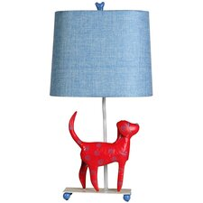 "Mini Dog 21"" H Table Lamp with Rectangle Shade"