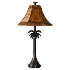 """Palm Tree 26"""" H Table Lamp with Bell Shade"""