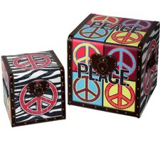 <strong>Style Craft</strong> Peace Trunk (Set of 2)