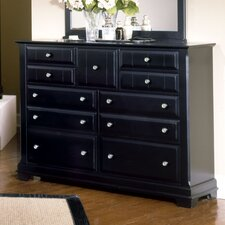 <strong>Vaughan-Bassett</strong> Cottage Triple 9 Drawer Dresser