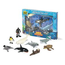 Wild Republic Toy Moveable Action Playset Aquatic Ocean Dive
