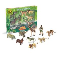Wild Republic Toy Moveable Action Playset African Safari