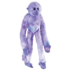 Hanging Gibbon Stuffed Animal in Purple