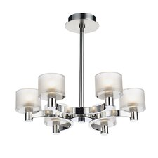 Eton 6 Light Semi Flush Light