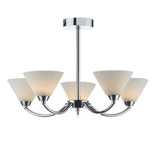 Henley 5 Light Semi Flush Light