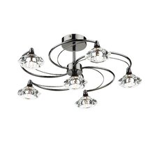 Luther 6 Light Semi Flush Light