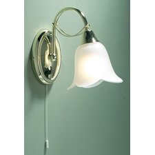 Doublet One Light Glass Shade in Polished Brass