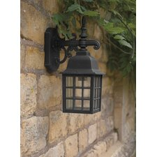 Norfolk Downlight Wall Lantern in Black