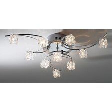 <strong>Dar Lighting</strong> Utopia 10 Light Semi Flush Light