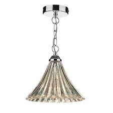 Ardeche Fluted 1 Light Bowl Pendant