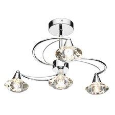 Luther 4 Light Semi Flush Light