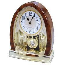 <strong>Rhythm U.S.A Inc</strong> Joyful Crystal Bells Table Clock