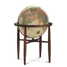 Finley Antique Illuminated World Globe