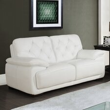 "71"" Leather Loveseat"