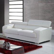 "Function Headrest 85"" Leather Sofa"