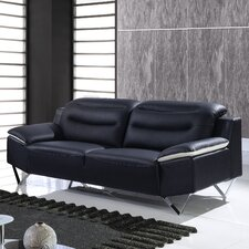 "87"" Leather Sofa"