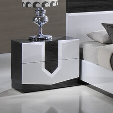 Hudson 2 Drawer Zebra Nightstand