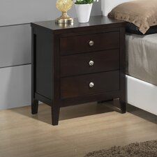 Lily 3 Drawer Nightstand