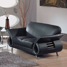 Dali Leather Loveseat