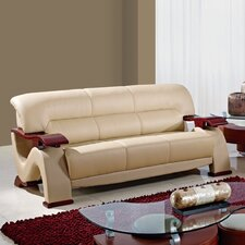 <strong>Global Furniture USA</strong> Leather Sofa