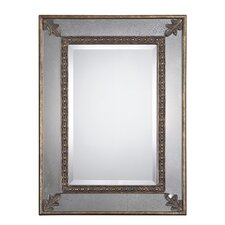 <strong>Uttermost</strong> Michelina Mirror in Heavily Antiqued Gold