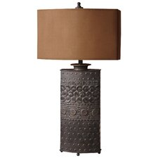 "Shakia 34"" H Table Lamp with Oval Shade"
