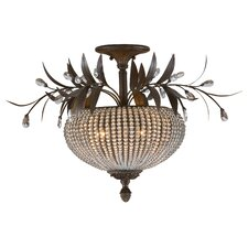 Cristal de Lisbon 3 light Semi Flush Mount