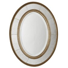 <strong>Uttermost</strong> Lara Oval Beveled Mirror in Antiqued Silver Leaf