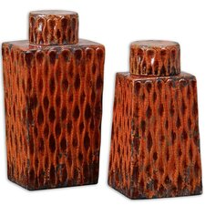 2 Piece Raisa Decorative Canister Set