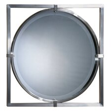 <strong>Uttermost</strong> Kagami Beveled Mirror in Brushed Nickel