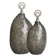 Deshal Canisters in Silver (Set of 2)