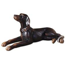Resting Dog Statue